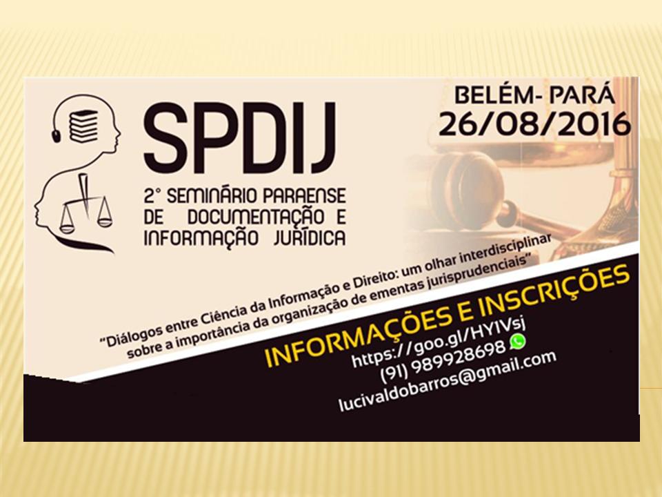 II Seminário Paraense de Documentação e Informação Jurídica