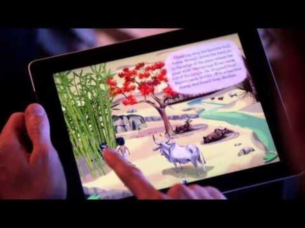 Bibliotecas usam tablets para aproximar crianças pequenas da leitura