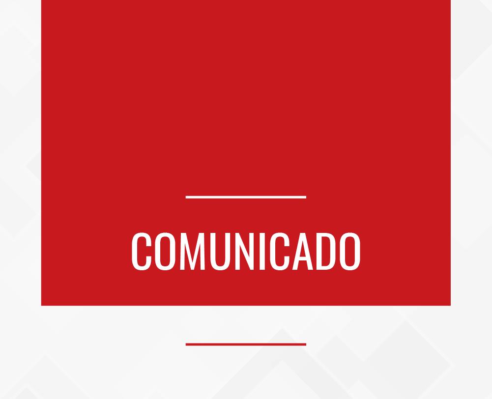 Comunicado: Cancelamento do Ciclo de Palestras